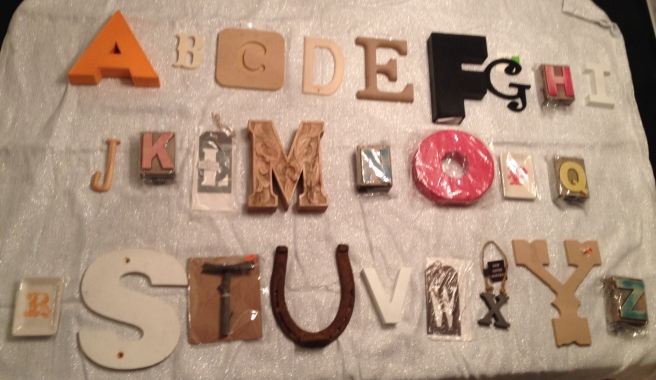 Playing around with the letters on my dining room tables