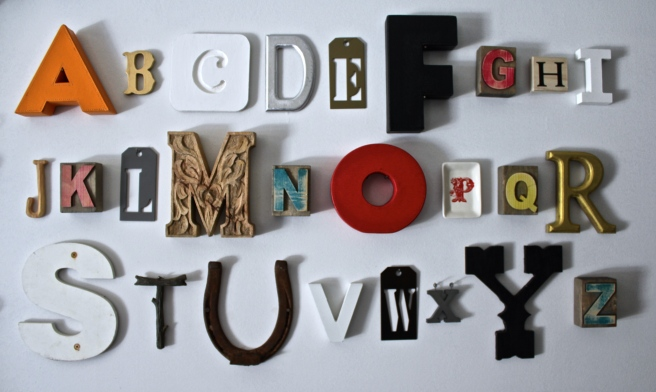 The Alphabet Wall without a frame