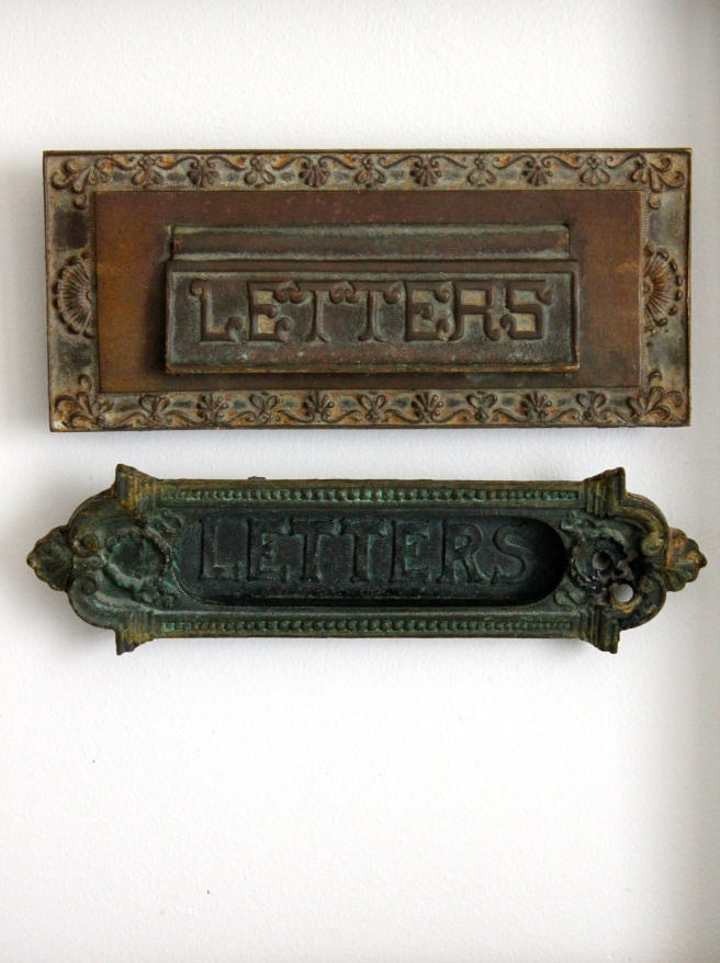 Vintage mail box slots