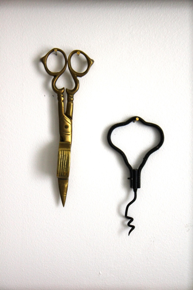 Vintage scissor and cork screw