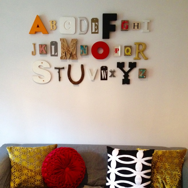 Alphabet Wall without a frame