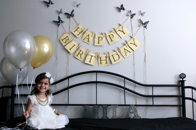 Milan's third birthday photo-shoot on the daybed